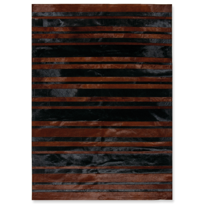 χαλί Stripes black-brown  2