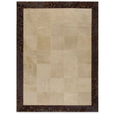 δερμάτινο χαλί beige-brown laser border 30X30 panel